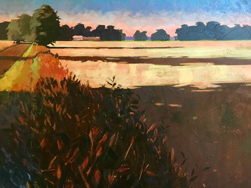 On the edge of fall landscape painting by Mark Mehaffey