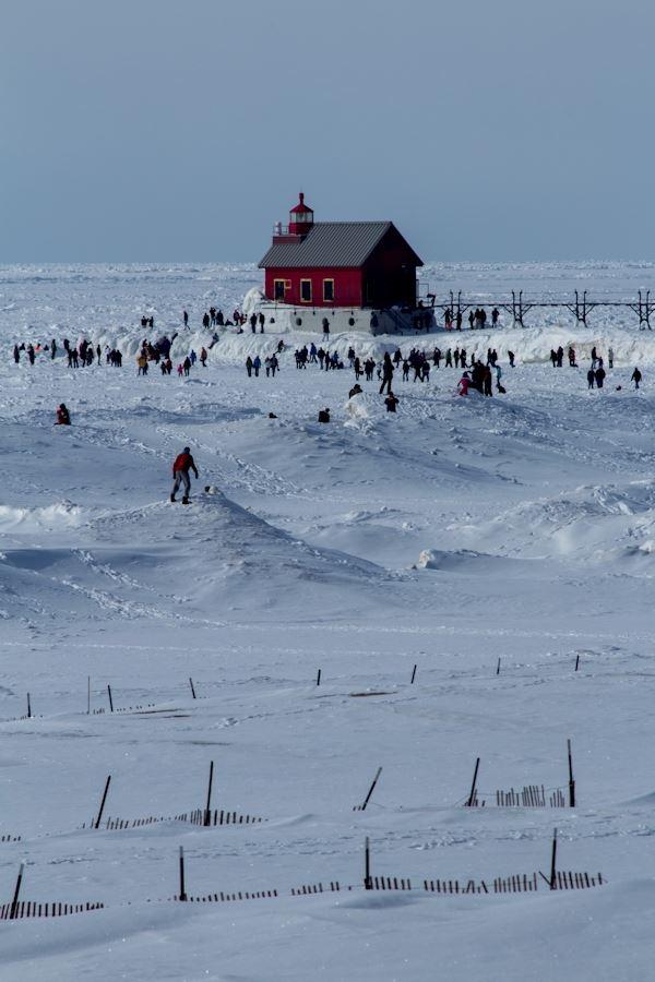 Grand Haven's Winter Pier. Image by Bob Walma