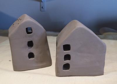 Little houses by Cyndi CAsemier