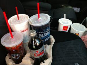 McDonald's drink tray, minivan