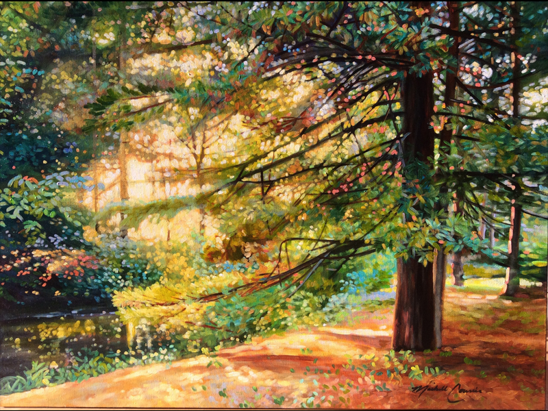 Michelle Courier painting of woods