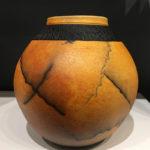 Scott Berman raku vase horsehair