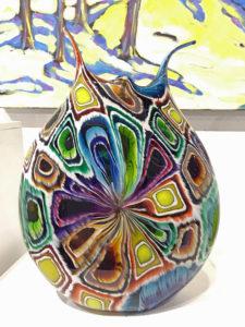 Murini Hand blown Glass vase by Eli Zilke