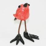 Tonya Rund little red bird w/ feather tail