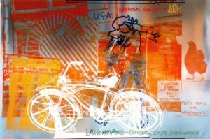 """""""Bicycle, National Gallery"""" 1992 foil print limited edition"""