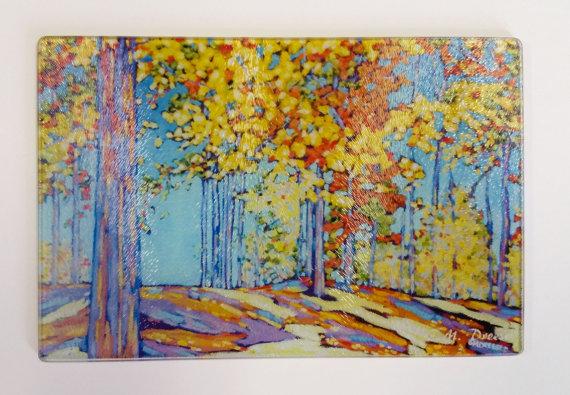 2016-autumn-trees-cutting-board