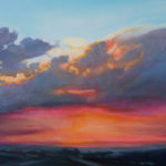 Michelle Courier Pink Sky at Night painting