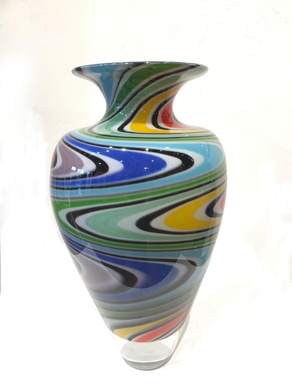 Eli Zilke glass wig wag vase