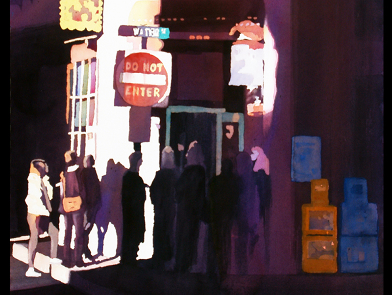 Morning Line Up painting by Mark Mehaffey