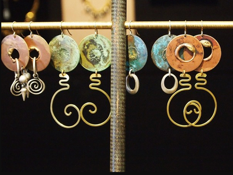 variety of earrings by Lochlin Smith