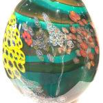 Hand blown glass vase by Eli Zilke