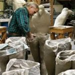 Mark Chatterley at work creating human forms