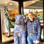 Blue Dog sculpture Mark Chatterley