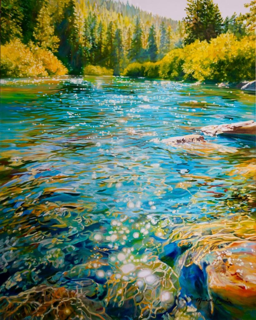 Truckee California River by Michelle Courier