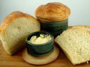Linda Ippel bread bowl & butter dish