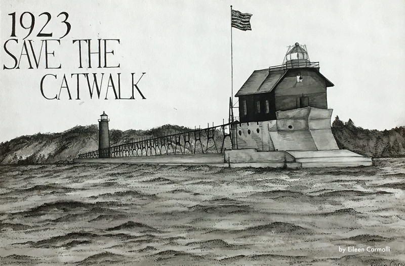Grand Haven pier by Eileen Carmolli
