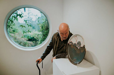 Robin Hopper in his gallery