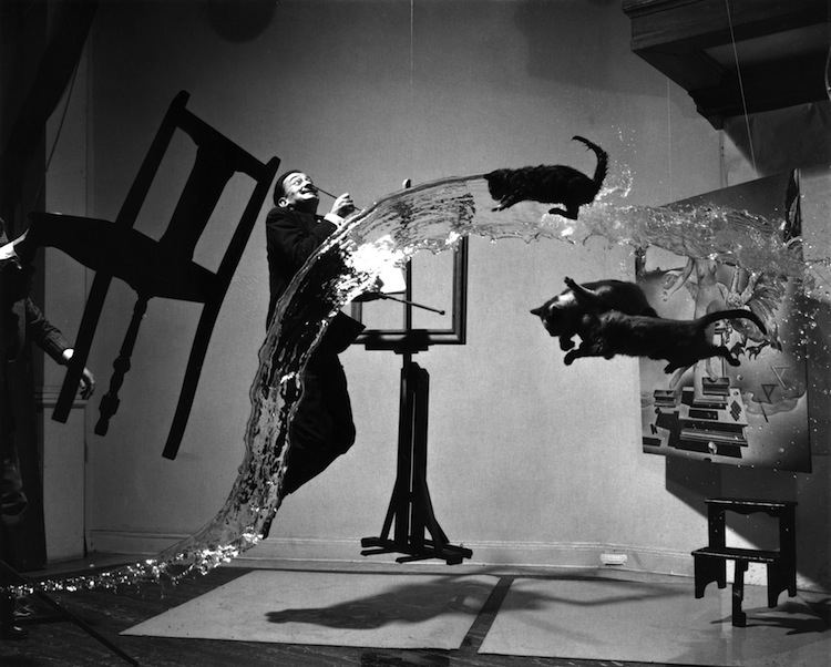 Iconic photograph combining the atomic age and Dali