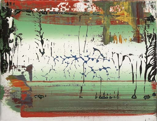 Abstract painting by Gerhard Richter