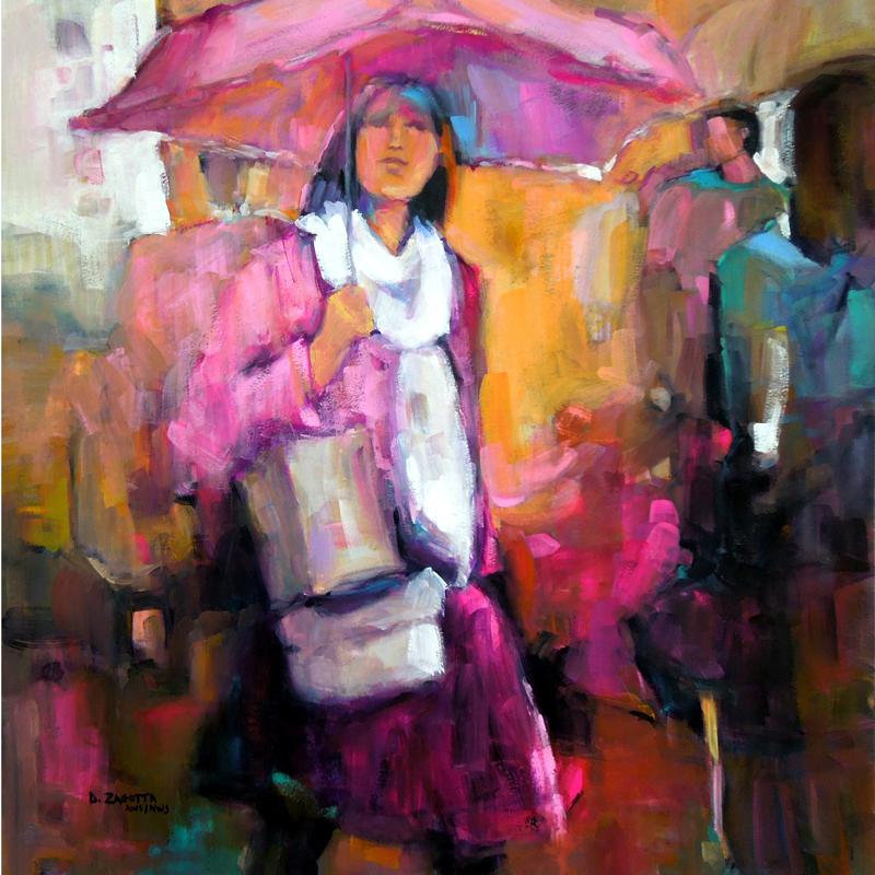 2017-Zagotta-Girl-With-the-Pink-Umbrella-Watercolor-&-Gouache-19.5x19.5-inches-web