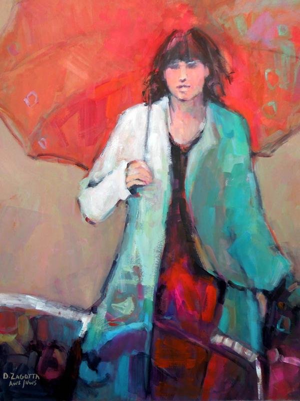 2017-Zagotta,-Girl-With-the-Red-Umbrella,-Watercolor-&-Gouache,-19.5x19.5-inches-web