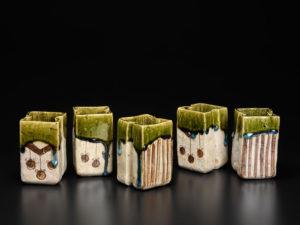 Ken Matsuzaki teacups oribe