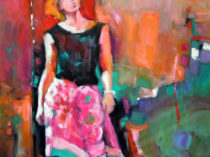 She Walks painting by Donna Zagotta