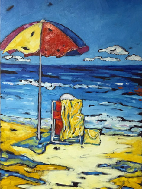 landscape painting by Christi Dreese
