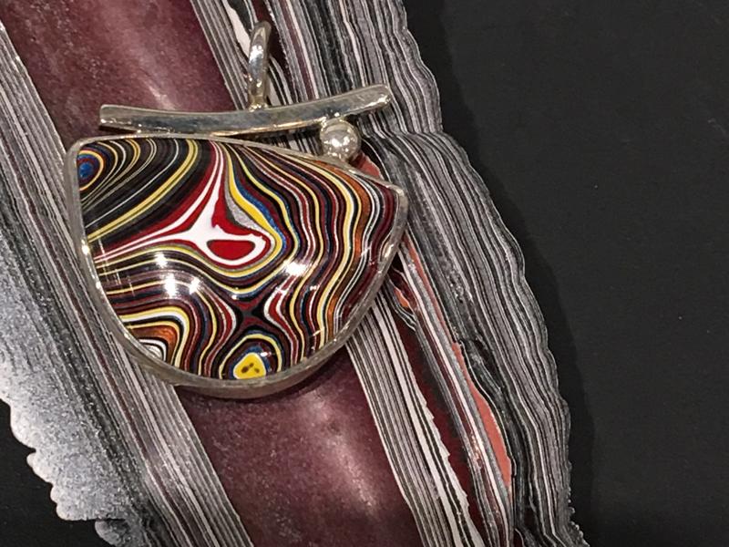 Fordite pendant by Julie Sanford