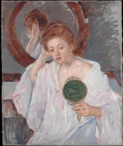 Mary Cassatt, Denise at Her Dressing Table, ca. 1908-09. Courtesy of the Metropolitan Museum of Art.
