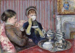 Mary Cassatt, Five O'Clock Tea, 1880. Image via the Museum of Fine Arts Boston.