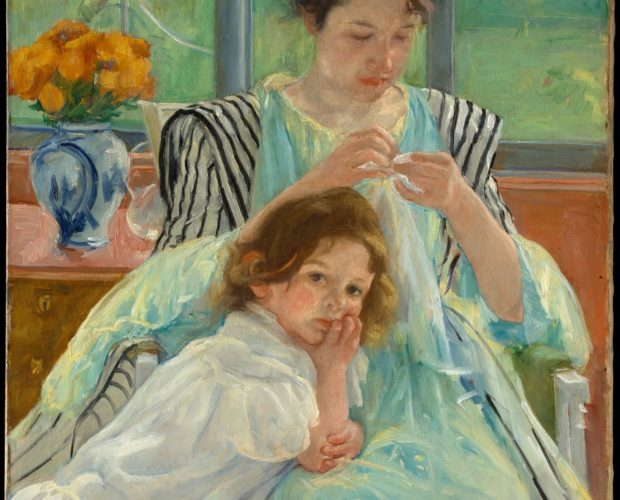 Mary Cassatt, Young Mother Sewing, 1990. Courtesy of the Metropolitan Museum of Art.