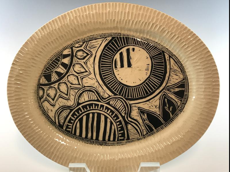 Carved platter by Jerri Puerner
