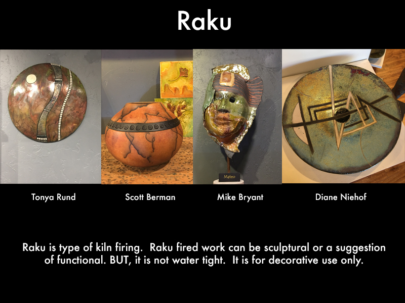 raku wall hangings and more