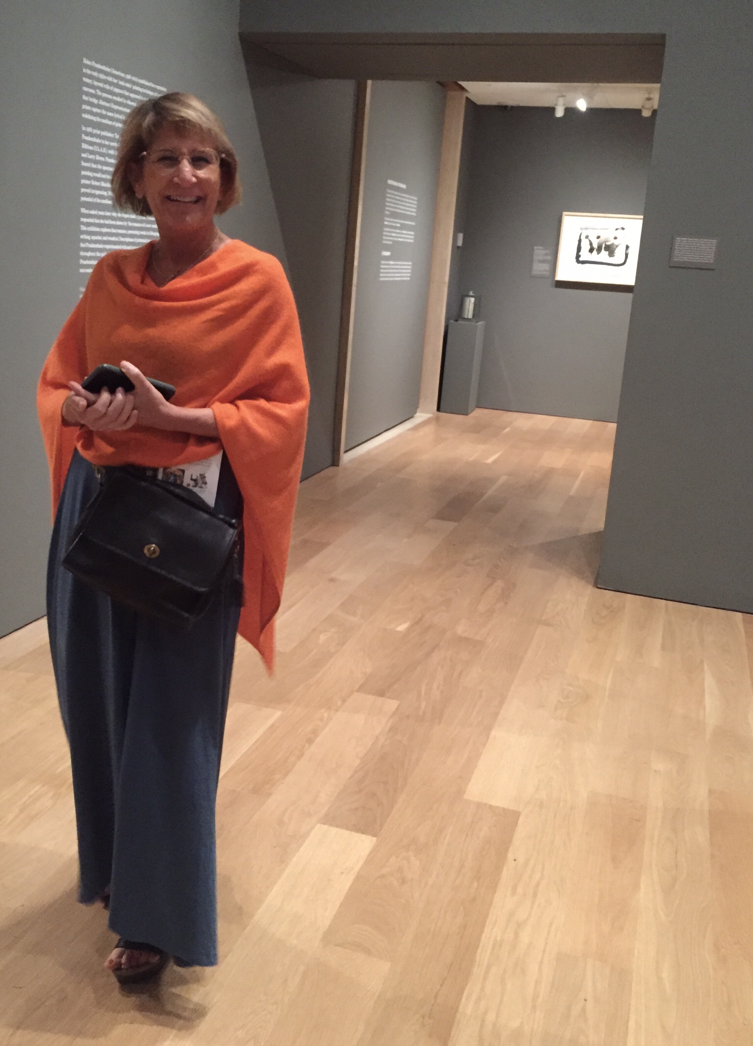 Cyndi Casemier cold in the Chicago Art Institute
