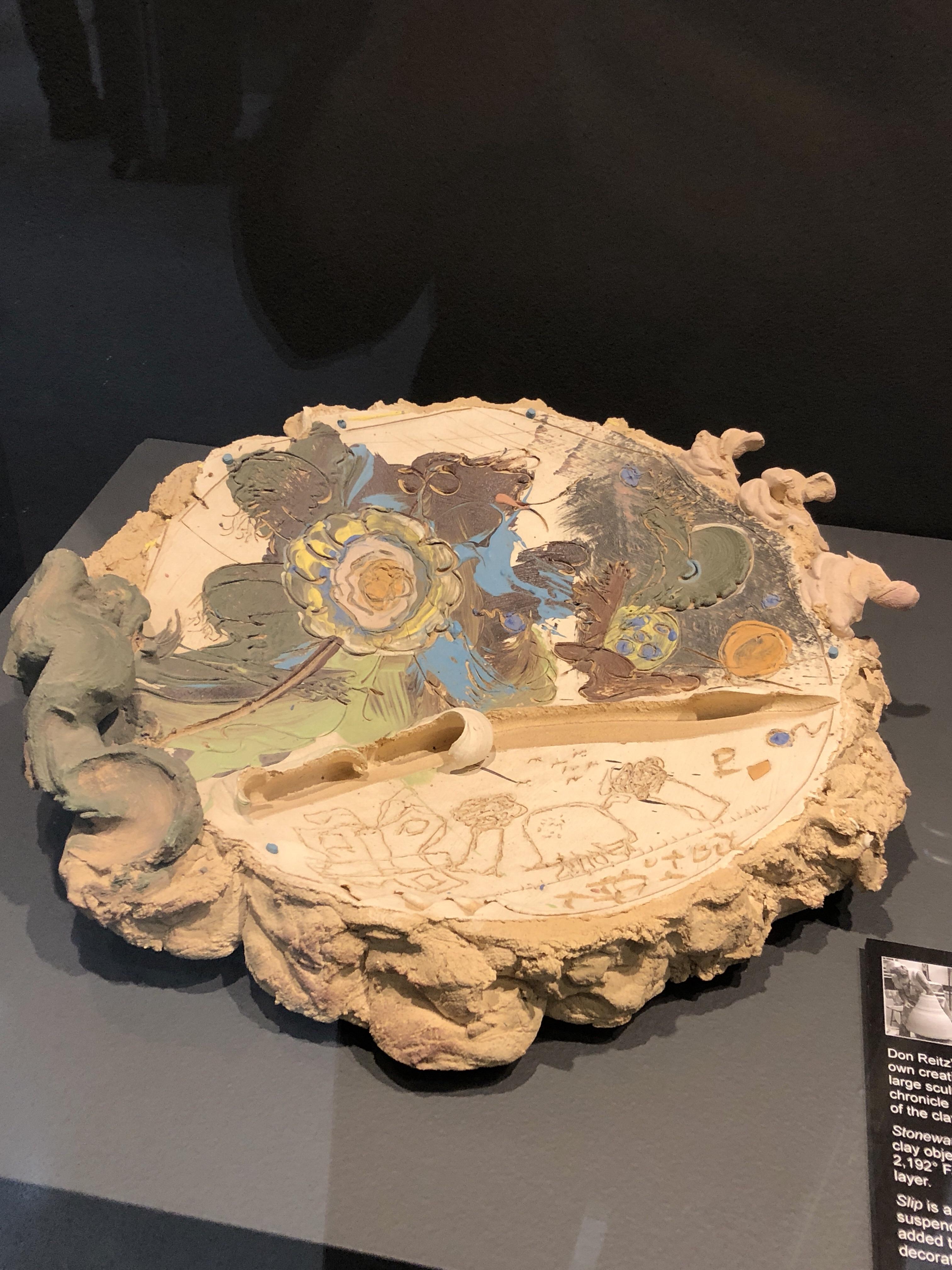 Don Reitz ceramic platter