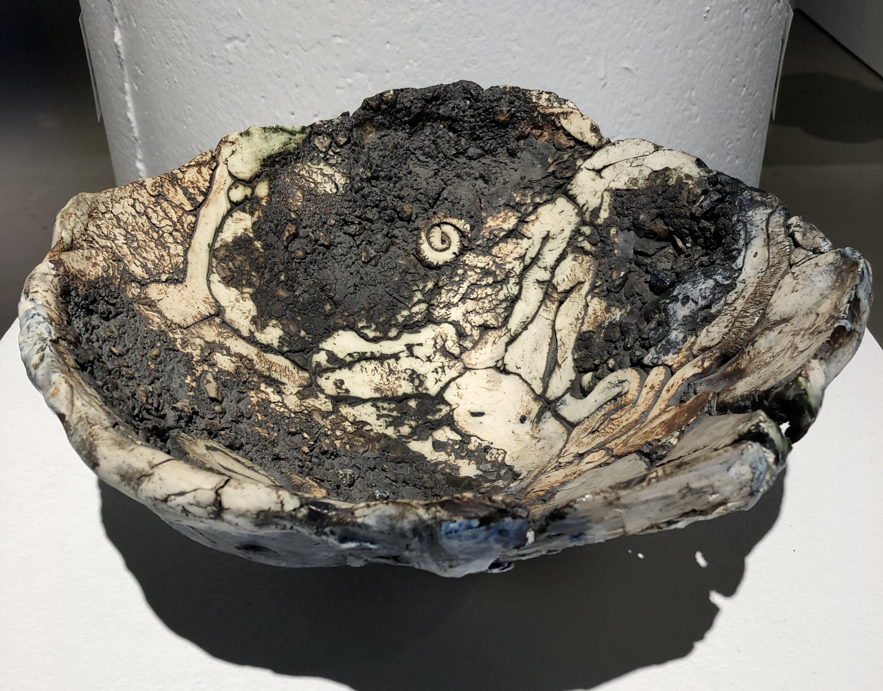 Porcelain Serving Bowl by Michele Oka Doner