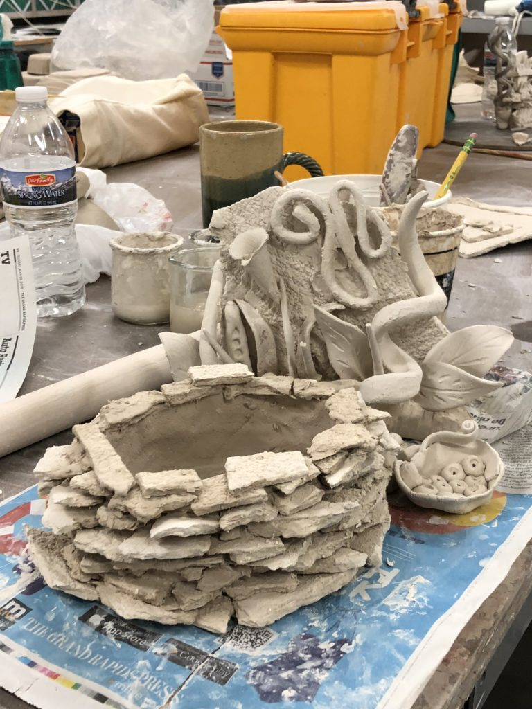 More complex paperclay forms