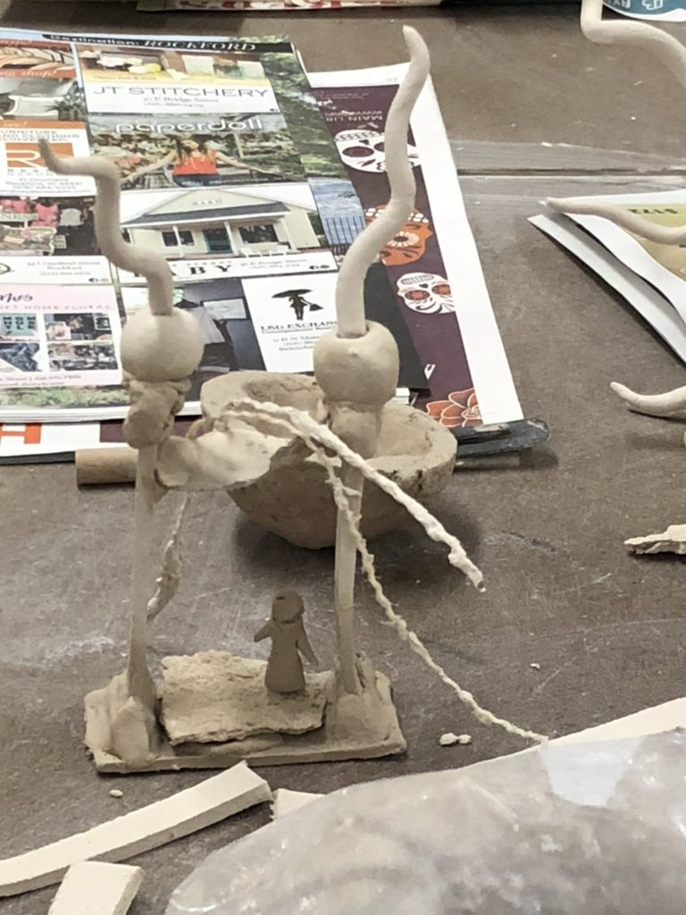 Larger sculpture pieces in paperclay
