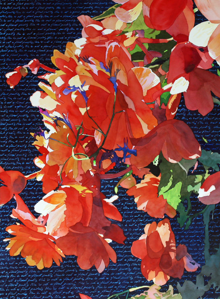 """""""This is not a floral painting"""" by Mark Mehaffey"""