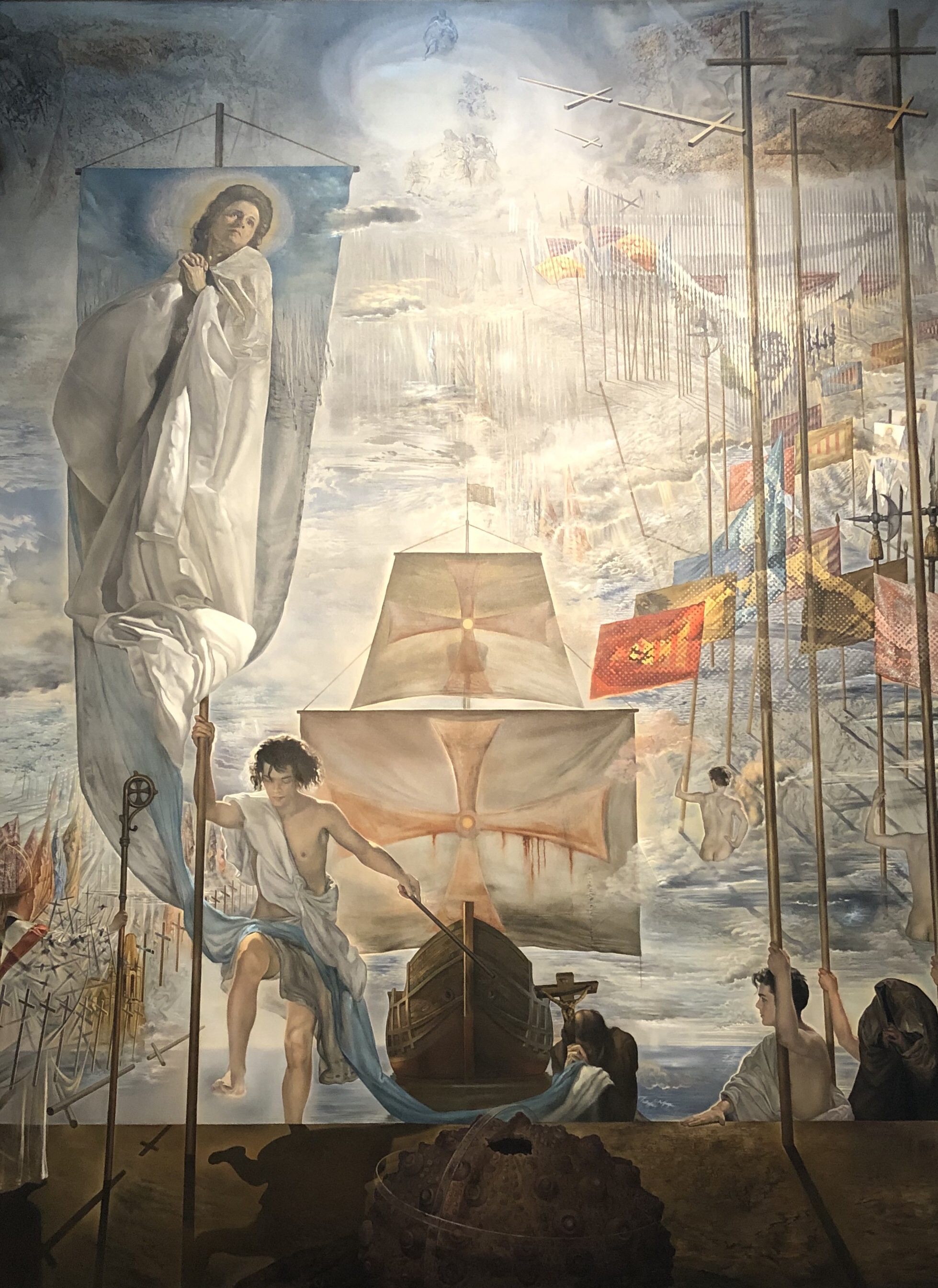 Dali's Christopher Columbus finding the new world