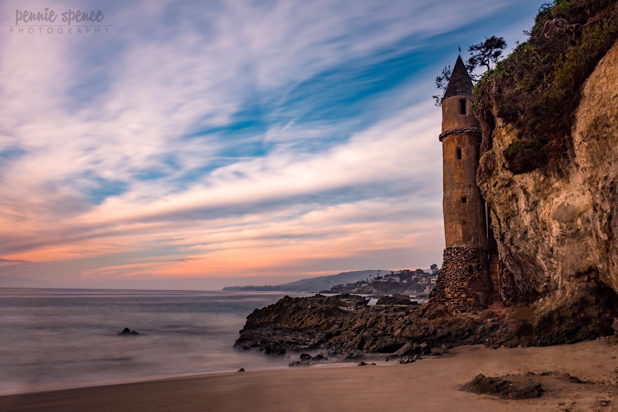 Castle Tower in the Rock face photograph by Pennie Spence