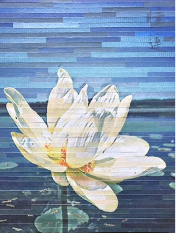 Water Lily wall art by Lori Reed